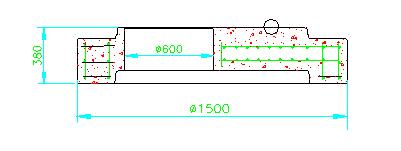 Dalle anti-chute Ø1.200/Ø1.200