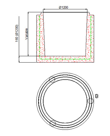 Bases circulaires de Ø1.000 et Ø1.200